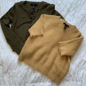 Ladies sweater and top